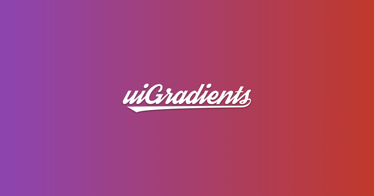Handpicked beautiful color gradients